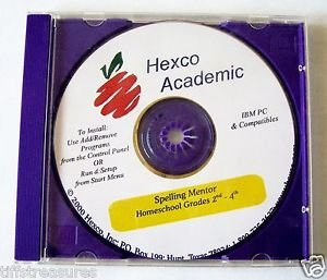 SPELLING MENTOR CD ROM Windows PC Mac learn Software Grade 2 3 4 HEXCO ACADEMIC