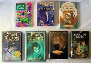 FANTASY MAGIC DRAGON BOOKS 7 Book Lot FICTION STORIES approx. Grades 4 to 6 &Up