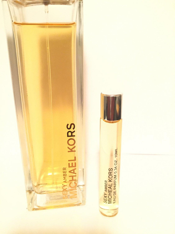 Sexy Amber Michael Kors WOmen EDP sample Perfume Rollerball Glass Travel Size New