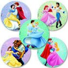 Smilemakers.com Stickers Disney Princess Glitter