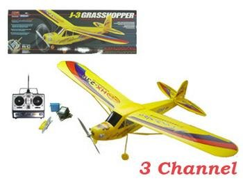 3 Channel R/C Grasshopper J-3 Airplane