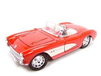 1957 Chevrolet Corvette Red 1:24 diecast