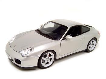 Porsche 911 Carrera 4S silver 1:18 diecast