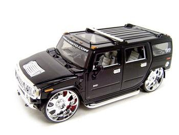 Hummer H2 Playerz Custom Black 1:18 diecast