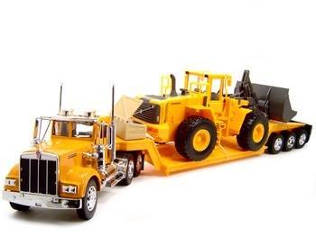 Kenworth W900 construction Trailer Truck 1:32 diecast