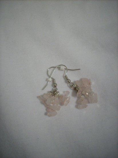 Handmade Light Pink Rose Quartz Earrings