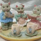 Fishing Cats Tiny Decorative Tea Set 11pc Set