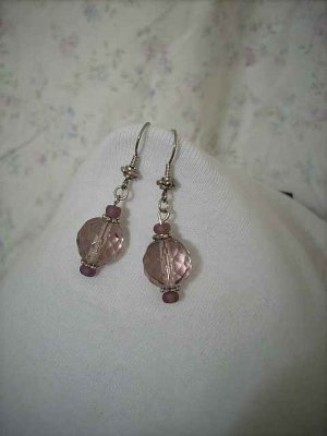 Faceted Amethyst Handcrafted Earrings