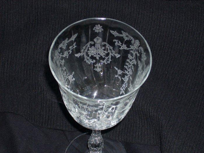 Fostoria Navarre Pattern Crystal Water Goblet Mint Condition
