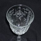Fostoria Navarre Pattern Crystal Water Goblet Mint Condition