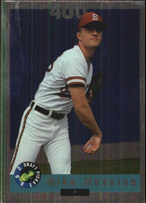 1992 Classic Draft Picks Foil Bonus BC20 Mike Mussina FLB