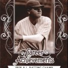 2016 Leaf Babe Ruth Collection Career Achievements CA6 Babe Ruth