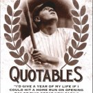 2016 Leaf Babe Ruth Collection Quotables Q10 Babe Ruth