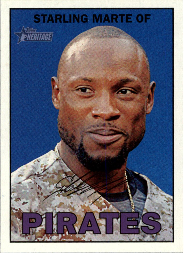 2016 Topps Heritage 140 Starling Marte