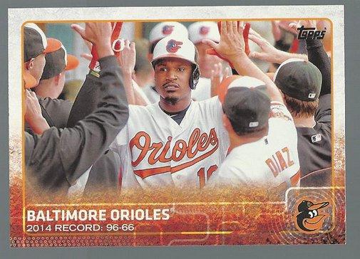 2015 Topps 19 Baltimore Orioles