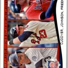 2014 Topps 237 Mike Cuddyer/Chris Johnson/Freddie Freeman LL