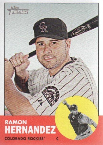 2012 Topps Heritage 326 Ramon Hernandez