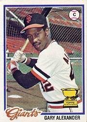 1978 Topps 624 Gary Alexander DP