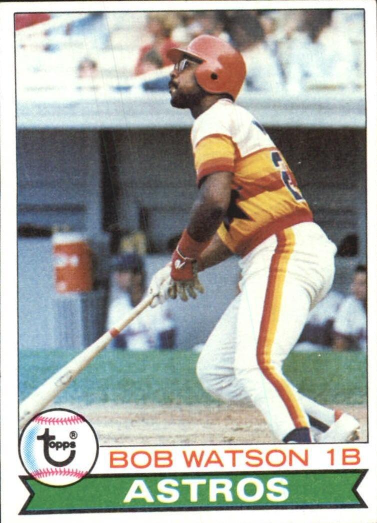 1979 Topps 130 Bob Watson DP