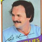 1980 Burger King Phillies 13 Del Unser
