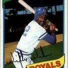 1980 Topps 157 Willie Wilson DP
