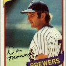 1980 Topps 595 Don Money