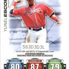 2010 Topps Series 2 Attax Code Cards 5 Yunel Escobar