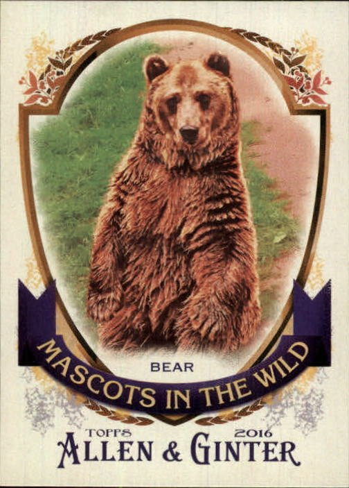 2016 Topps Allen and Ginter Mascots in the Wild MIW5 Bear