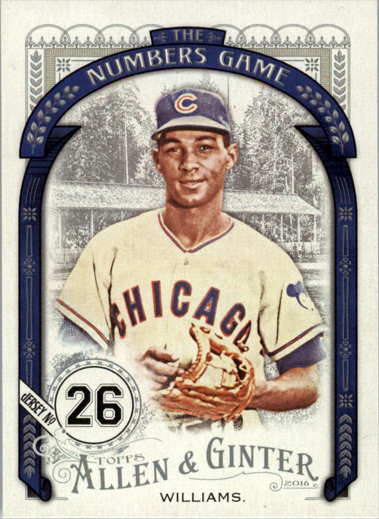 2016 Topps Allen and Ginter The Numbers Game NG71 Billy Williams