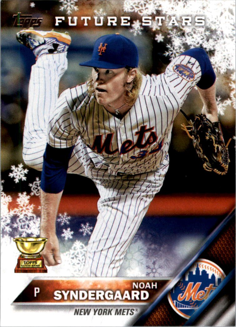 2016 Topps Walmart Holiday Snowflake HMW25 Noah Syndergaard