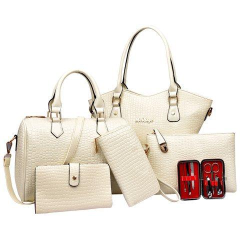 BAG SET WHITE