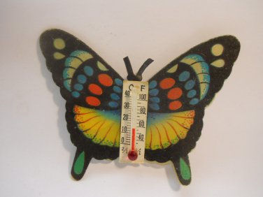 BUTTERFLY WITH TEMP. COLLECTIBLE REFRIGERATOR MAGNETS
