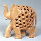 CARVED ELEPHANT WITH BABY NESTED INSIDE - B