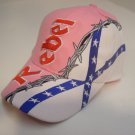 REBEL HAT WITH BARB WIRE & FLAG PINK