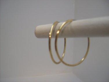 Gold Hoop Dangle Earrings n114