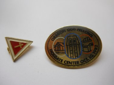 Label Pins Hat Pins 2 Pc Lot Collectible Pins Cross