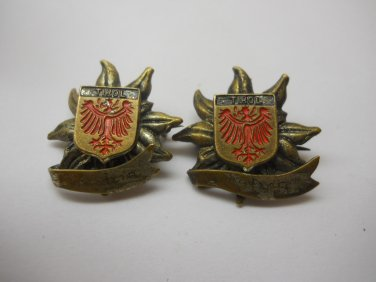 Vintage Label Pin 2 Pc Lot Hat Pins Collectible Pins