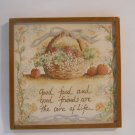 Basket With Sayings Collectible Refrigerator Magnets