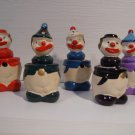 Vintage Squeaky Clowns Pencil Sharpeners 1pc Clown
