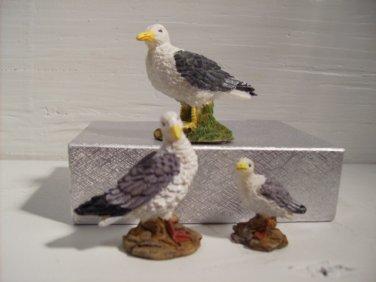 Bird Figurine Collectible Birds, 3 Pc Bird Set n536