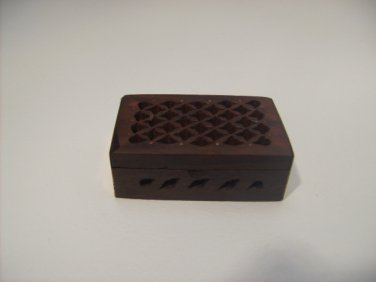 Beautiful Rosewood Carved Box
