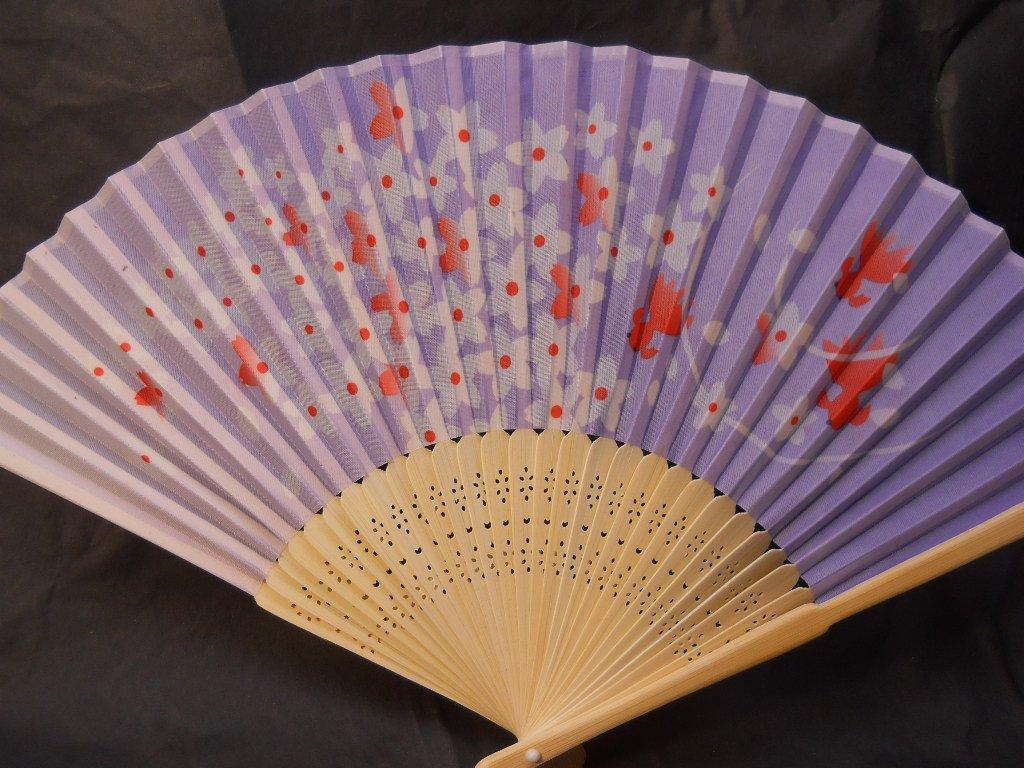 Lavender Flowers Silk Handheld Hand Fan Folding Fans Asian Hand Fan #Fan157