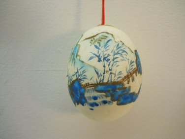 Asian Chinese Art Painted  Egg w/ String for Hanging #66