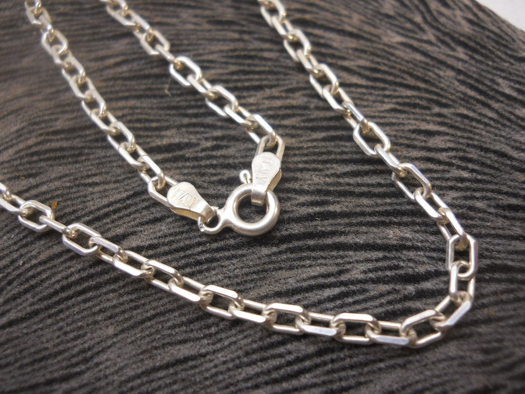 Beautiful Crafted 925 Anker  16in Chain 4mm Italy