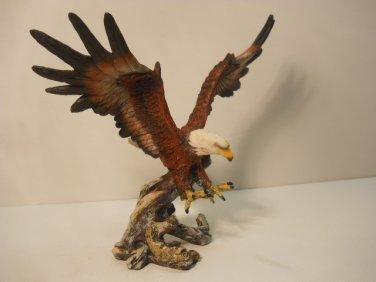 Beautiful Open Wing Eagle on  tree Branch Figurine #803