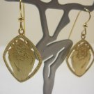 Taz Crafted Gold over 925  Sterling Silver Dangle Earrings #429