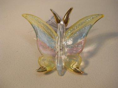 Blown Glass Multi Colored  Butterfly Decorative Figure Dctv68