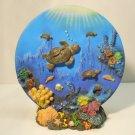 Decorative Turtle Plate and  Base Set Figure Figurine Decor Turtles