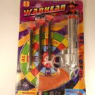 Dart Gun With 3 Soft Darts Silver & Lt Brown Color New Vintage