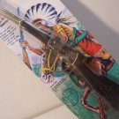 Diecast Western Cowboy Riffle Vintage Heavy Diecast  nTy56